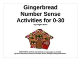 Gingerbread Man Math Kindergarten Numbers 1 to 30