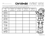Christmas Number Sense: 10 More, 10 Less, 100 More, 100 Less