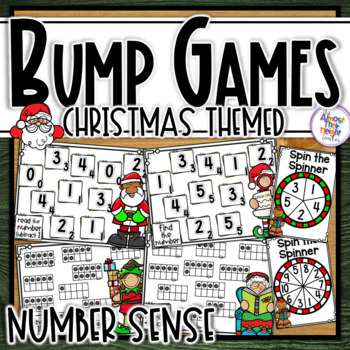 Christmas Number Sense Bump Games for numbers 1-5 & 1-10