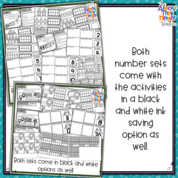 Christmas Number Sense Bundle - count, match, read and write numbers 1-20