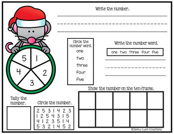 Christmas Number Sense Mat