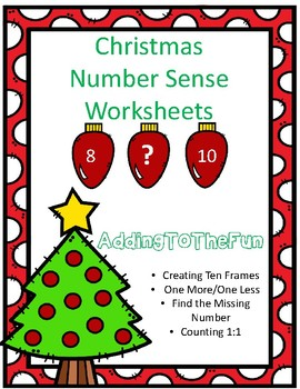 Christmas Number Sense Worksheets