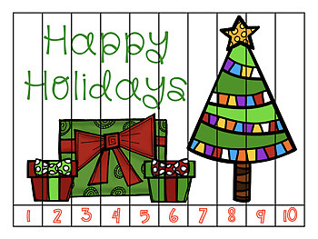 Christmas Number Strip Puzzles