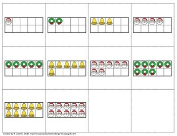 Christmas Number Train!  Great Center, Game, Review, Assessment!  CC Aligned!