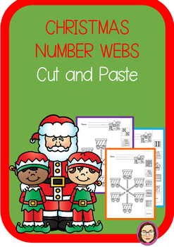 Christmas Number Web Number Sense Cut and Paste