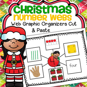 Christmas Number Webs 1-10 Cut and Paste