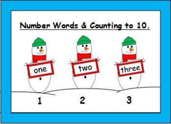 Christmas / Winter Number Words Activities
