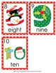 Christmas Number Words Write the Room Activity
