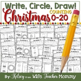 Christmas Number Worksheets 0-20 (Counting Worksheets)