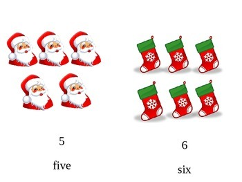 Christmas Number cards 1-10