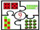 Christmas Number puzzles - number recognition and counting