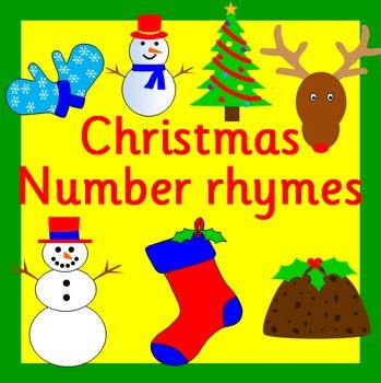 Christmas Math counting rhymes