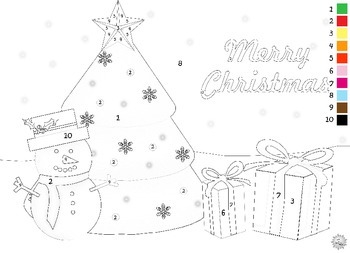 Christmas Numbered Coloring Pages