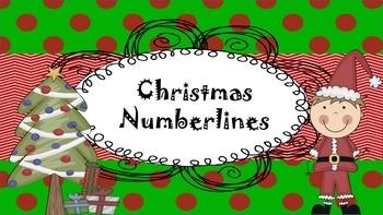 Christmas Numberline Fun!