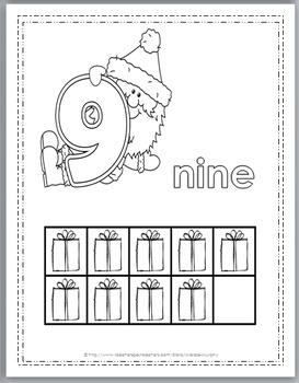 christmas ten frames coloring 0 10 christmas activity