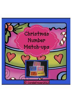 Christmas Numbers 1-10 Match-ups