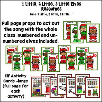 Christmas Numbers 1-10 Song: 1 Little 2 Little 3 Little Elves drama & printables