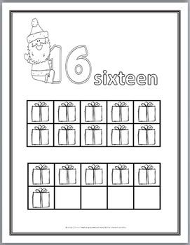 Christmas Ten Frames Coloring 11-20  Christmas Math