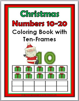 Christmas Theme Numbers 11 - 20 Coloring Book with Ten Fra