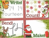 Christmas Number Recognition 11-20 Math Center: Write, Cou