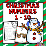 Christmas Worksheets: Numbers 1-10