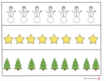 Christmas Numbers Bundle (Ten Frames, Number Cards,Counting Sheets)