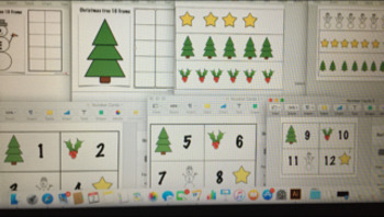 Christmas Numbers Bundle (Ten Frames, Number Cards,Countin