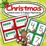 Christmas Large Number Flashcards 0-20 - Match Numerals with 10-Frames