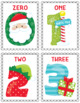 Christmas Numbers Flash Cards; Kindergarten; Preschool; Homeschool; Math