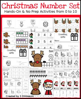 Christmas Numbers Set: 0 to 10