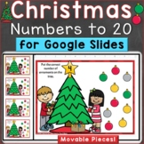 Christmas Numbers to 20, Counting, Number Recognition Digi