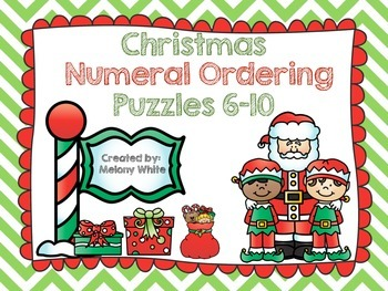 Christmas Numeral Ordering Puzzles 6-10