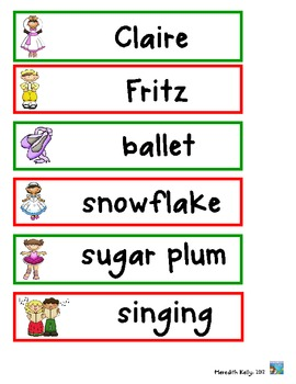Christmas Nutcracker ABC Order