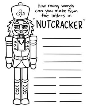"Christmas ""Nutcracker"" word play handout"