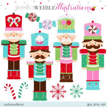 Christmas Nutcrackers - Cute Digital Clipart, Christmas Graphics
