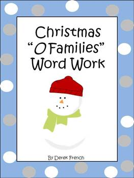"""Christmas """"O Families"""" Word Work"""