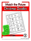 Christmas Object Matching - Print, Answer & Color Workshee