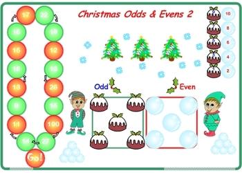 Christmas Odds & Evens Games