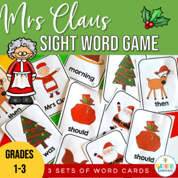 Christmas Sight Word Game - Old Maid (Mrs Claus)