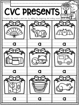 Christmas Activities for Kindergarten {Math and Literacy No Prep Printables}