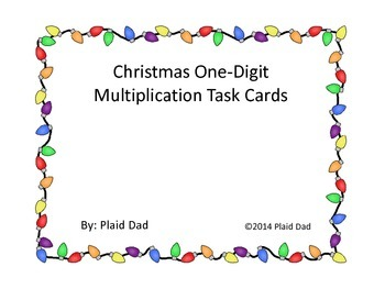 Christmas One-Digit Multiplication Task Cards