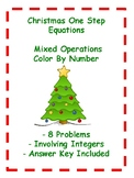Christmas One Step Equations - Color By Number