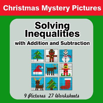 Christmas: One-Step Inequalities with Addition & Subtraction