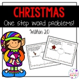 Christmas One Step Word Problems within 20!