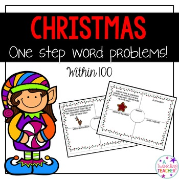 Christmas One Step Word Problems within 100!