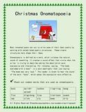 Christmas Onomatopoeia Poem: Seasonal Poetry