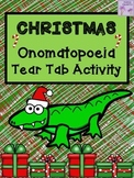 Christmas Onomatopoeia Tear-Tab Creative Writing Activity