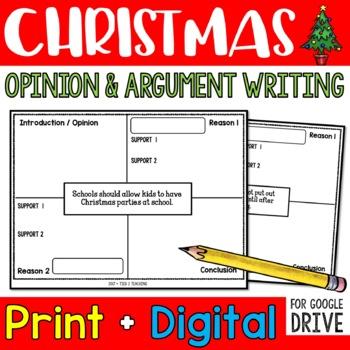 Christmas Opinion Writing
