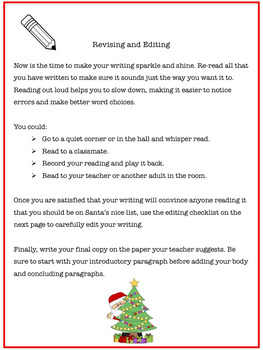 Christmas Opinion Writing