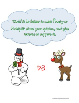 Christmas Opinion Writing: 3 Prompts
